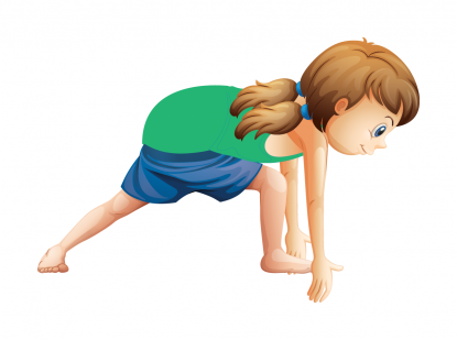 Lunge pose by Actively Balanced Kids