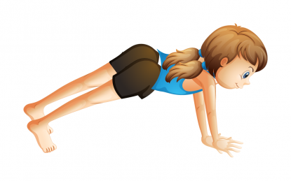 Plank pose by Actively Balanced Kids