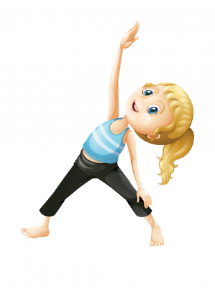 Triangle pose by Actively Balanced Kids