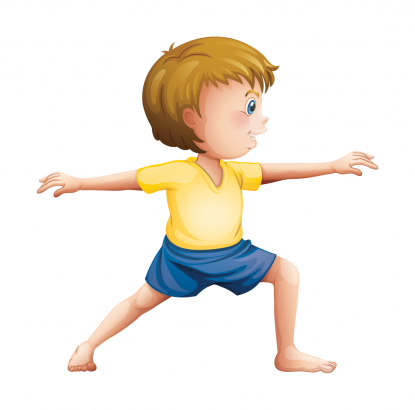 Warrior 2 pose by Actively Balanced Kids