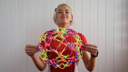 Breathing Hoberman sphere